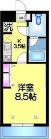 ヴェールコート新宿3階Fの間取り画像