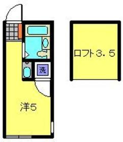 PALACE鶴ヶ峰Ⅱ2階Fの間取り画像