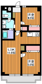 氷川台駅 徒歩13分5階Fの間取り画像