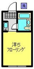 菊名イッセイハイツ2階Fの間取り画像