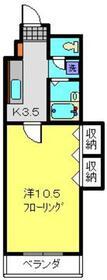 トウェルブ大倉山2号棟2階Fの間取り画像