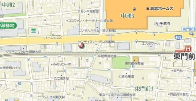 ラフィスタ川崎大師案内図