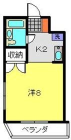 向河原駅 徒歩14分3階Fの間取り画像