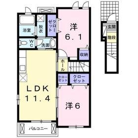 逗子駅 バス24分「佐島一丁目」徒歩5分2階Fの間取り画像