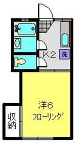 コーポ椿2階Fの間取り画像