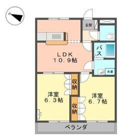 エトワールシャトー2階Fの間取り画像
