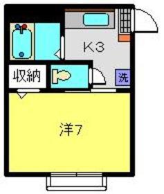弘明寺駅 徒歩23分1階Fの間取り画像