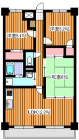 和光市駅 徒歩13分6階Fの間取り画像