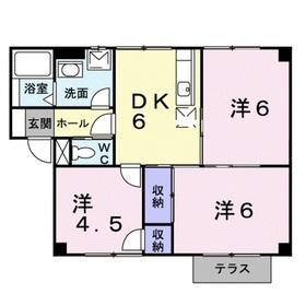 フォンテーヌシャトレⅡ1階Fの間取り画像