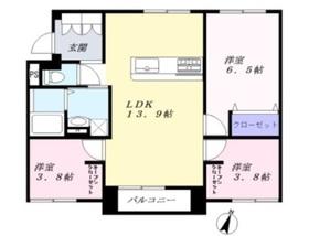 SUBURB TERRACE 黒崎新町2階Fの間取り画像