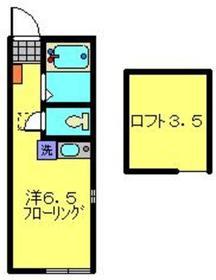 ヒルズ弘明寺1階Fの間取り画像