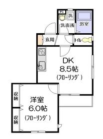 パルクヴェール1階Fの間取り画像