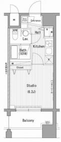 ガーラ・プレシャス横濱関内9階Fの間取り画像