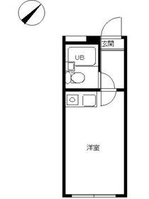 スカイピア弘明寺2階Fの間取り画像
