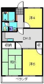日吉駅 徒歩20分2階Fの間取り画像