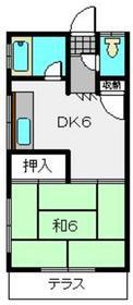 みその荘2階Fの間取り画像