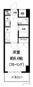 ナビウス新宿七丁目5階Fの間取り画像