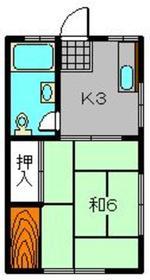 第一関口ハイム3階Fの間取り画像