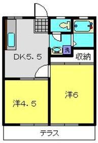 モリエールA1階Fの間取り画像