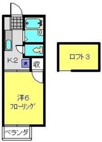 横浜駅 徒歩18分2階Fの間取り画像