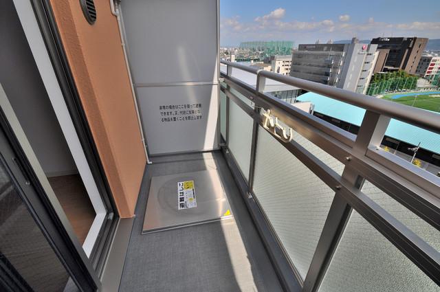 M'プラザ小阪駅前 大きなバルコニーです。風通しも良いのですぐに乾きそうですね。