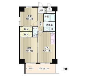 ウイングス・ハイ亀戸4階Fの間取り画像