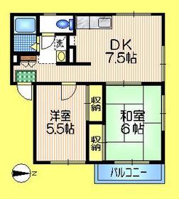 エステートピアベルデ2階Fの間取り画像
