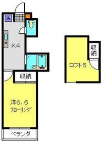 トップヒルズⅢ2階Fの間取り画像