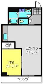 フレメゾン4階Fの間取り画像