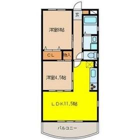 ミルフィーユふじみ野参番館3階Fの間取り画像