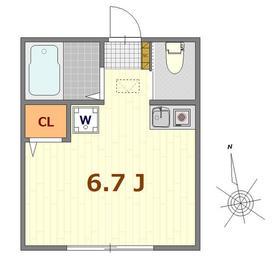 山手駅 徒歩9分2階Fの間取り画像