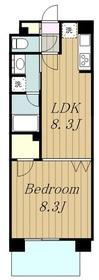ライオンズステーションプラザ相模大野10階Fの間取り画像