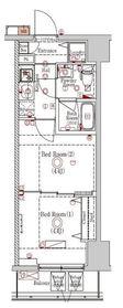 ラフィスタ川崎Ⅵ10階Fの間取り画像