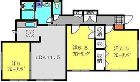 ピエディテラモンターニャ1階Fの間取り画像