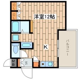 COCKTAIL-D3階Fの間取り画像