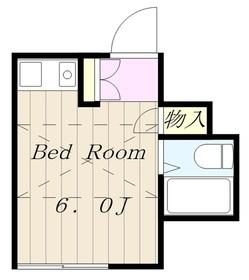 メープルタウン2階Fの間取り画像