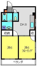 ニューハイム三ツ沢3階Fの間取り画像
