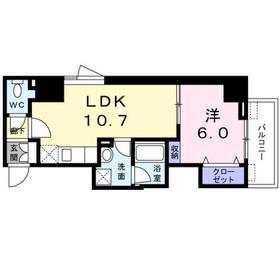 セジュール・モリ6階Fの間取り画像