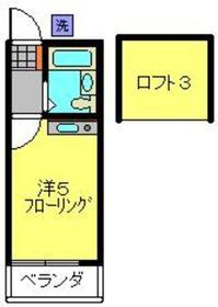 ヴィラ山崎2階Fの間取り画像