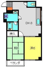 保土ヶ谷太田ビル2階Fの間取り画像