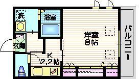 メゾンヴェリテ三番館2階Fの間取り画像