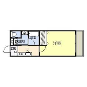 パルハイツ鶴見1階Fの間取り画像