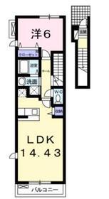 サニーヒルズノースB2階Fの間取り画像