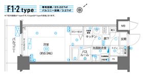 ZOOM横濱EAST10階Fの間取り画像