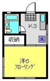 和田町駅 徒歩13分2階Fの間取り画像
