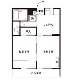 ピア永田3階Fの間取り画像