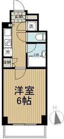 ルーブル狛江6階Fの間取り画像