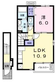 レザンジュ2階Fの間取り画像