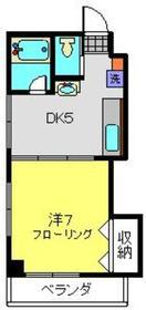 シャンス東寺尾中台13-Ⅱ2階Fの間取り画像