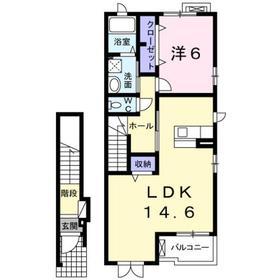 ヴァンヴェール2階Fの間取り画像